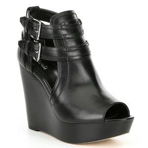 🆕 Michael Kors Peep Toe Leather Booties
